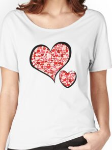 Love, Romance, Hearts - Red  Women's Relaxed Fit T-Shirt