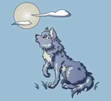 Wolf Howling at the Moon by Stephanie Jayne Whitcomb