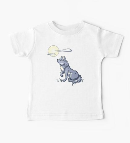 Wolf Howling at the Moon Baby Tee
