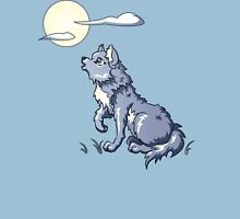 Wolf Howling at the Moon Womens Fitted T-Shirt