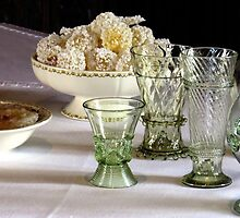 Table with Glassware  by ZWC Photography