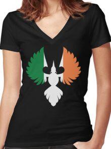Ireland Phoenix Women's Fitted V-Neck T-Shirt