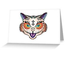 Sugar Skull Kitty Greeting Card