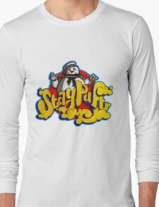 Stay Puft Marshmallow Man Logo - Graffiti Long Sleeve T-Shirt