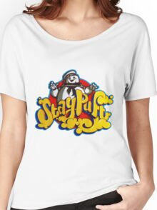 Stay Puft Marshmallow Man Logo - Graffiti Women's Relaxed Fit T-Shirt