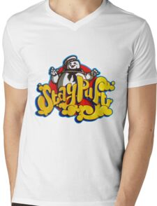 Stay Puft Marshmallow Man Logo - Graffiti Mens V-Neck T-Shirt