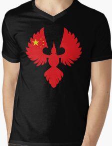 China Phoenix Mens V-Neck T-Shirt