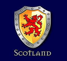 Scotland Lion Rampant Shield by eyemac24