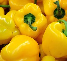 Yellow Peppers by TilenHrovatic