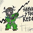 Samurai Stock Record Bull Cartoon by Binary-Options