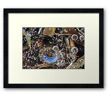 Ice Air Bubbles and Blue Sky Reflection Framed Print