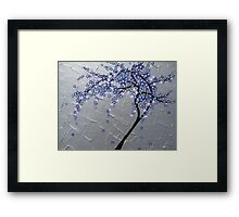 blue and purple blossom tree Framed Print