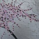 pink, purple, silver and white blossoms by cathyjacobs