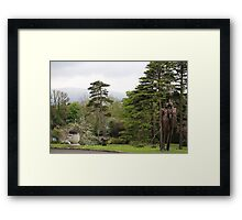 Culloden Estate Statuary in Northern Ireland Framed Print