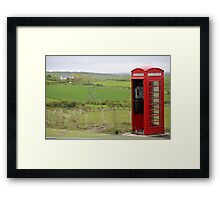 Iconic British phone booth in Northern Ireland Framed Print