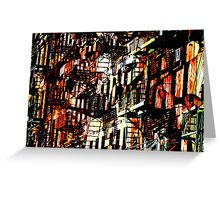 Mott St NYC Fire Escapes Greeting Card