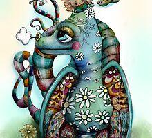 Misty the Friendly Rainbow Dragon by © Cassidy (Karin) Taylor