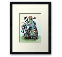 Misty the Friendly Rainbow Dragon Framed Print