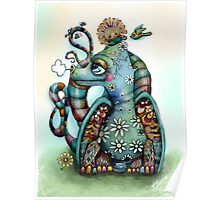Misty the Friendly Rainbow Dragon Poster
