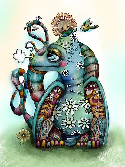 Misty the Friendly Rainbow Dragon by © Karin  Taylor