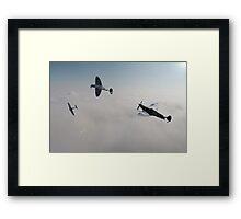 Spitfire Victory Roll Framed Print