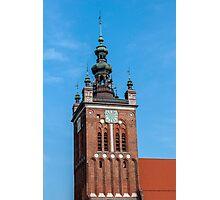 Clock Tower, Gdansk, Poland. Photographic Print