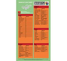 Adobe Flash Cheat Sheet Guide Photographic Print