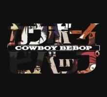 cowboy bebop logo faye jet spike ed anime manga shirt by ToDum2Lov3