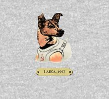 Laika: First animal in space orbit Women's Fitted Scoop T-Shirt