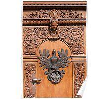 Polish eagle, door knocker. Poster