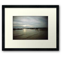 Sunset At Sea - Lomo Framed Print