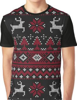 """Christmas """"Ugly Sweater"""" Winter Pattern Graphic T-Shirt"""