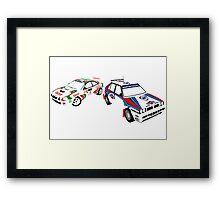 Sega Rally Tribute - Lancia vs Toyota Framed Print