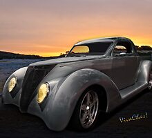 Custom 37 Ford Pickup Sundown in the wilds of the Texas Hill Country by ChasSinklier