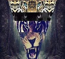Triangle Lions,tigers Iphone and Ipod case by RickyRozay