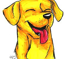 Brush Breeds-Yellow Labrador by Alexa H.J.