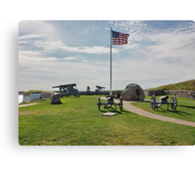 Old Cannons of Wars Canvas Print