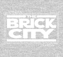 'Brick Wars' (wht) Kids Tee