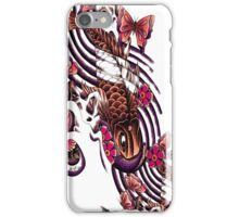 Koi with blossoms and butterflies  iPhone Case/Skin