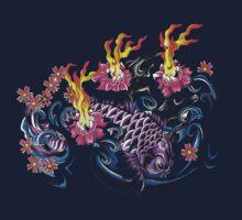 Purple Koi  by Aarron Laidig