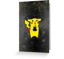Pikachu + Apple = Friends Greeting Card