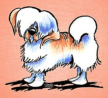 Lhasa Apso Red Parti Off-Leash Art™ by offleashart