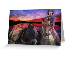 Back Country Packer Greeting Card