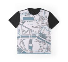 Map of Paris - Champs Elysees Graphic T-Shirt