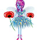 Enigmatic Flower Fairy Art by LeahG by LeahG Artist