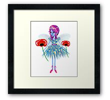 Enigmatic Flower Fairy Art by LeahG Framed Print