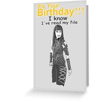 Darla Von Happy Birthday Greeting Card