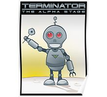 Terminator Alpha Black Poster