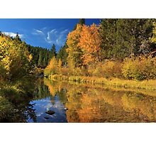 Autumn Along The Susan River Photographic Print