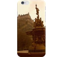 Edinburgh Castle & Fountain iPhone Case/Skin